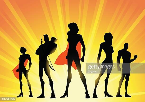 Female-led superheroes team