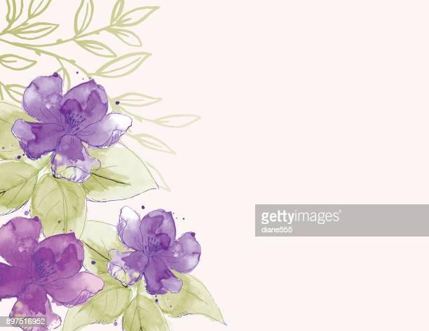 Feminine Watercolor Flowers Background