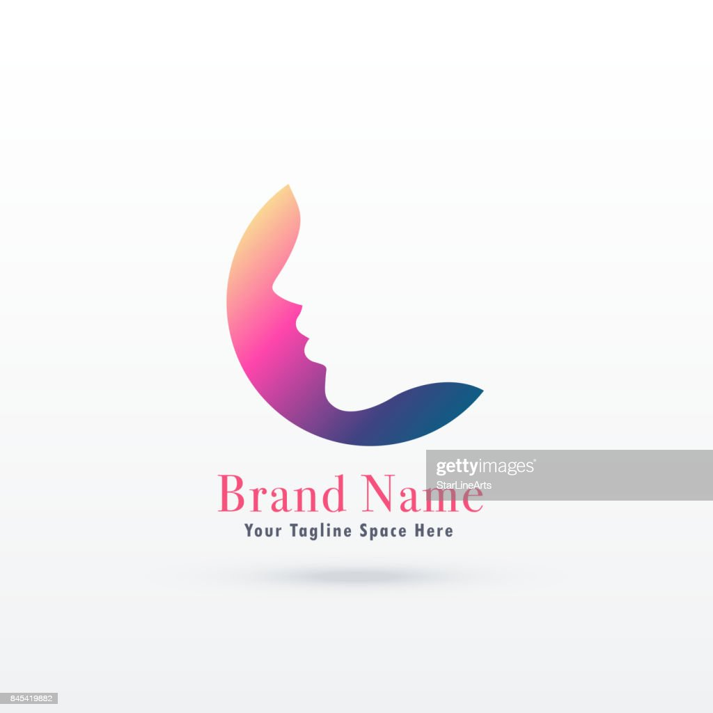feminism logo concept with girl or woman face