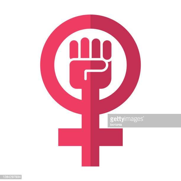 feminism symbol icon on transparent background - activist icon stock illustrations