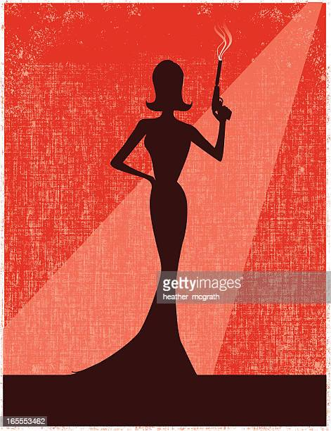 femme fatale - sensuality stock illustrations, clip art, cartoons, & icons