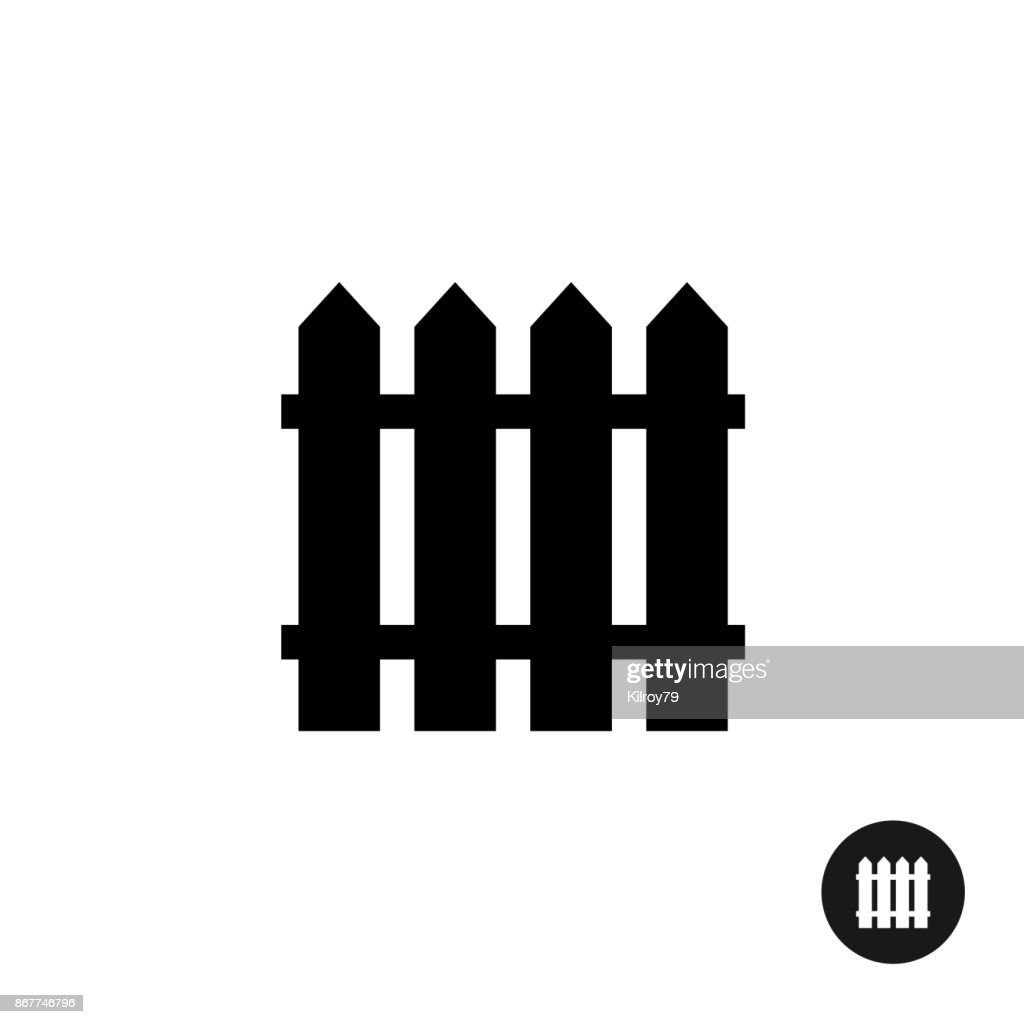 Fence icon. Simple black silhouette one piece style symbol.