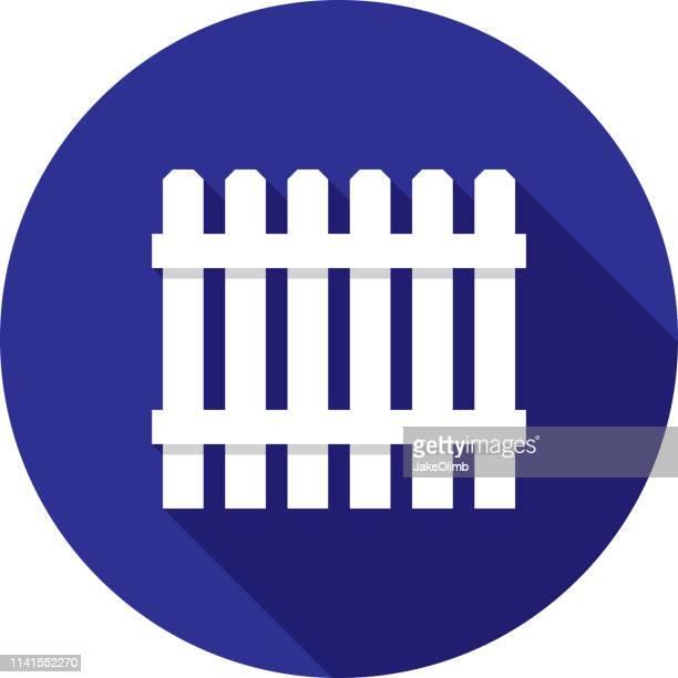 ilustrações, clipart, desenhos animados e ícones de a cerca posta o ícone liso - cercado com estacas