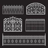 Fences silhouette