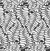 Fern leaves wallpaper pattern background (tiles seamlessly)