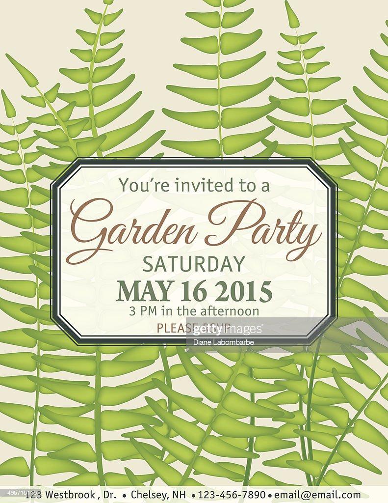 Pretty Garden Party Invitation Template Contemporary - Entry Level ...