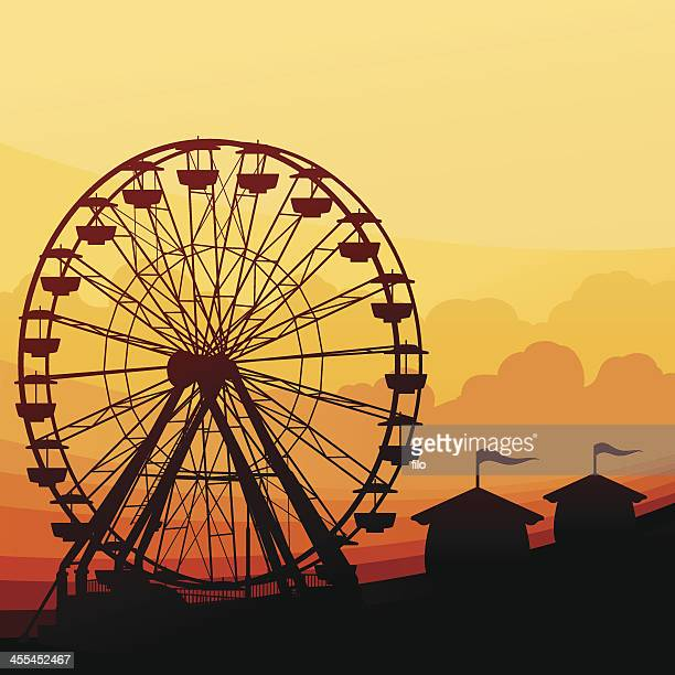 ferris wheel background - ferris wheel stock illustrations, clip art, cartoons, & icons