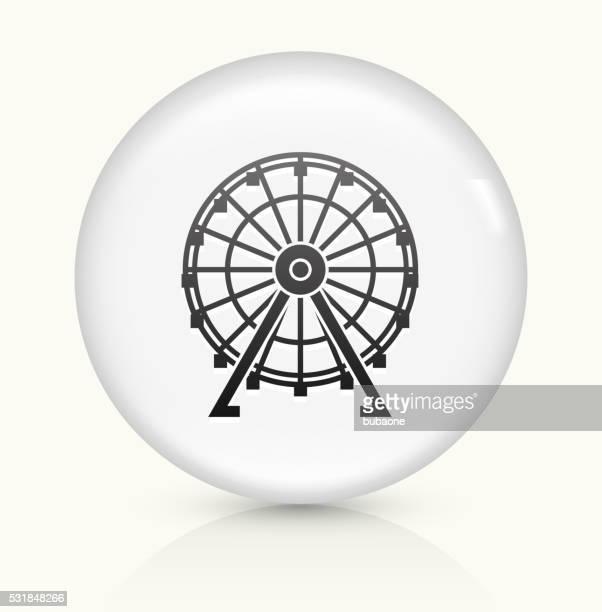 観覧車 白くて丸いベクトルボタンのアイコン