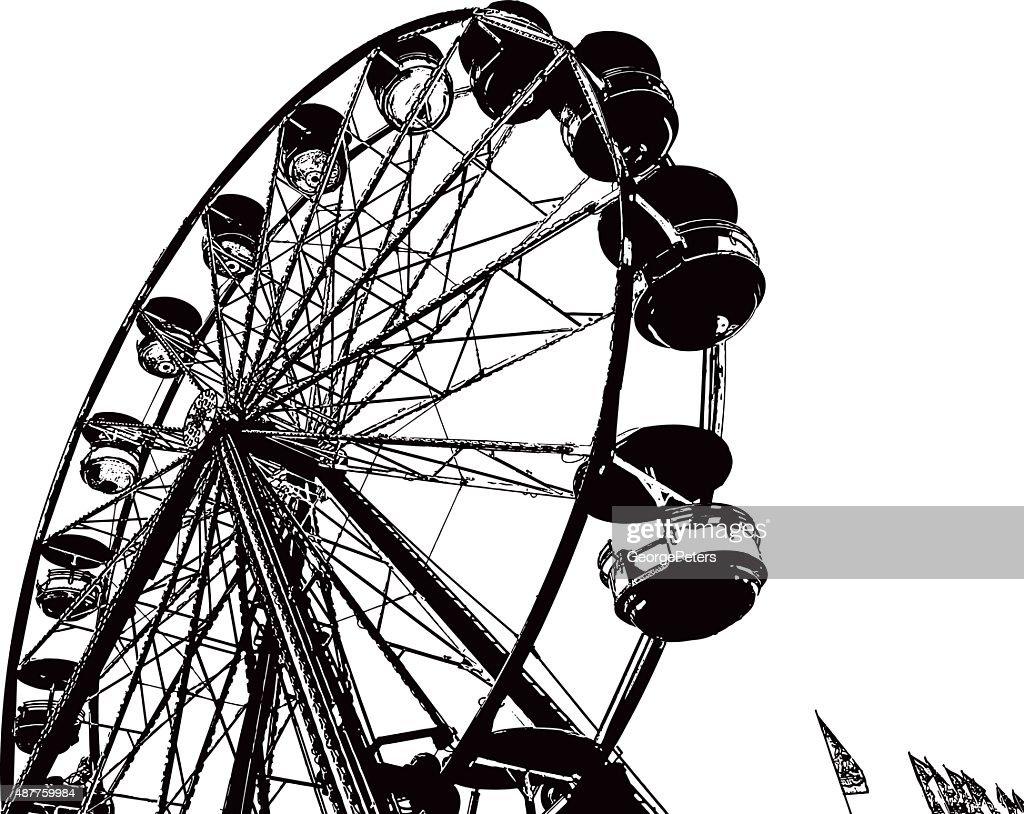 Ferris Wheel Line Art