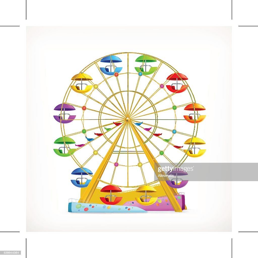 Ferris wheel, vector icon