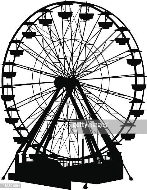 ferris wheel - ferris wheel stock illustrations, clip art, cartoons, & icons
