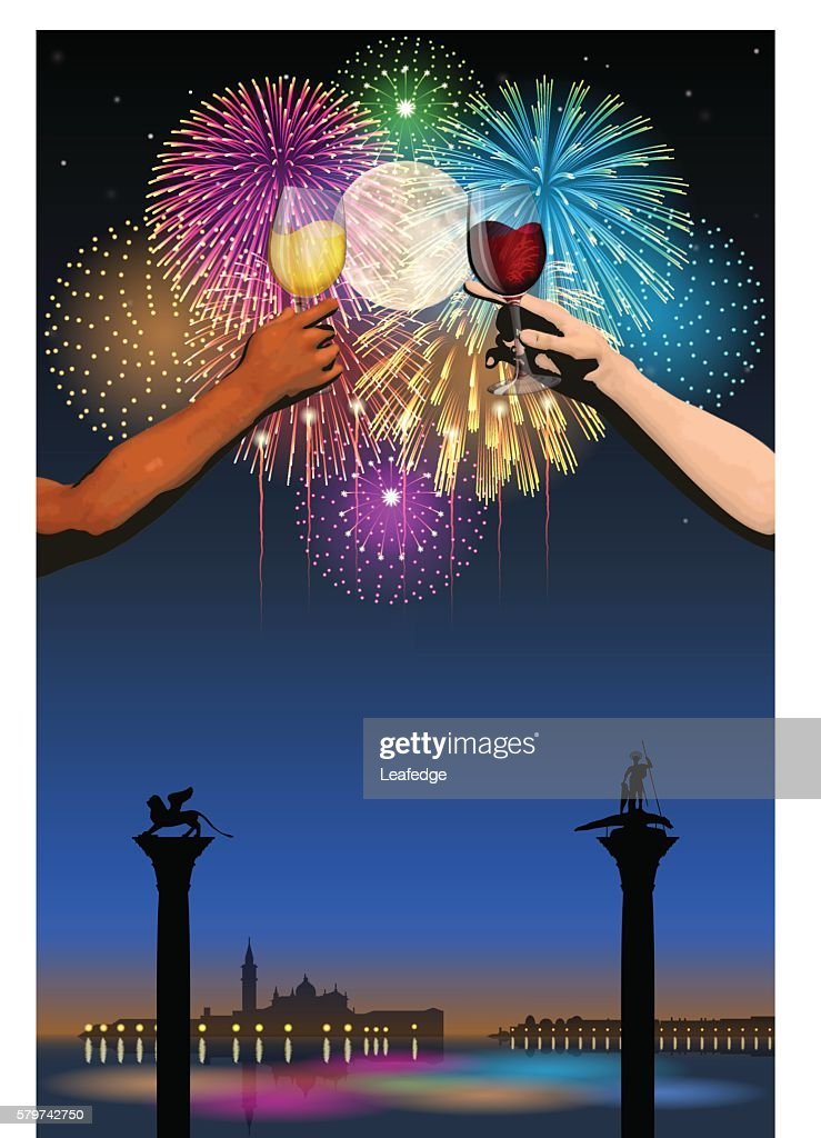 Festa del Redentore[Fireworks and full moon and wine]