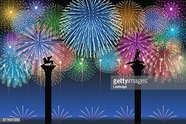 festa del redentore[fireworks] - 花火点のイラスト素材/クリップアート素材/マンガ素材/アイコン素材