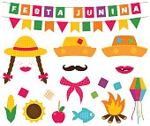 Festa Junina banners and photo booth props
