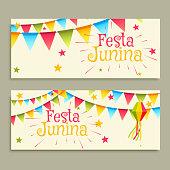 festa junina celebration banners