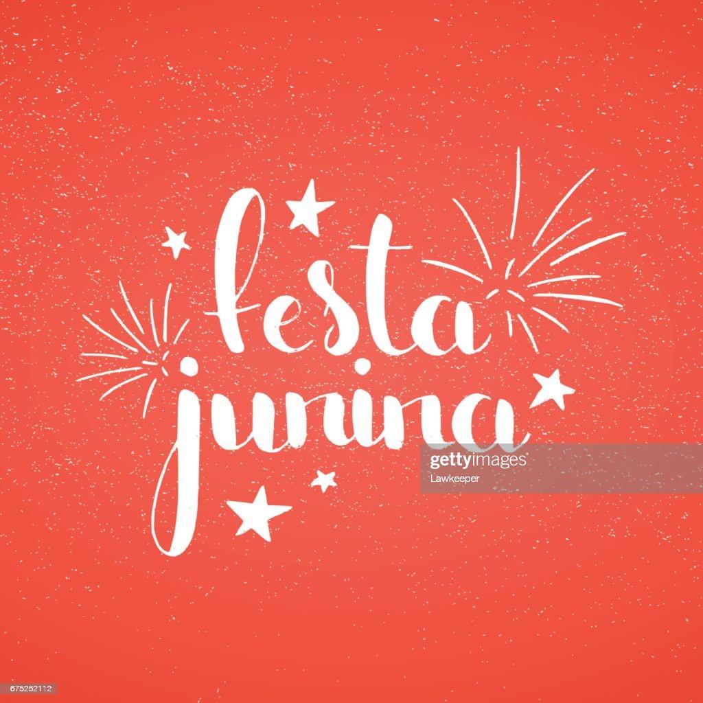 Festa Junina handwritten lettering
