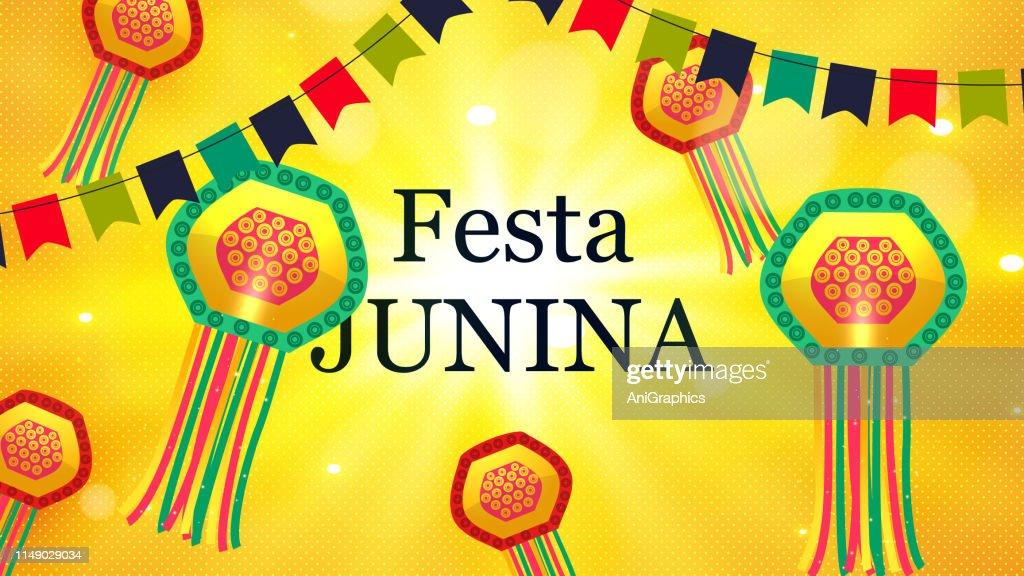 Festa Junina Party Celebground Stock Illustration Getty Images