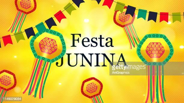 festa junina party celebration background - june stock illustrations
