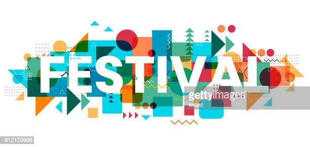 festival design - arts culture and entertainment stock illustrations