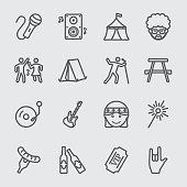 Festival line icon