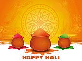 Festival of colors. Happy Holi card