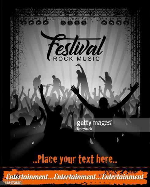 festival sign - pop music stock illustrations