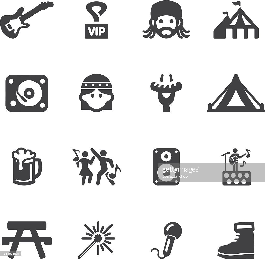 Festival Silhouette icons | EPS10