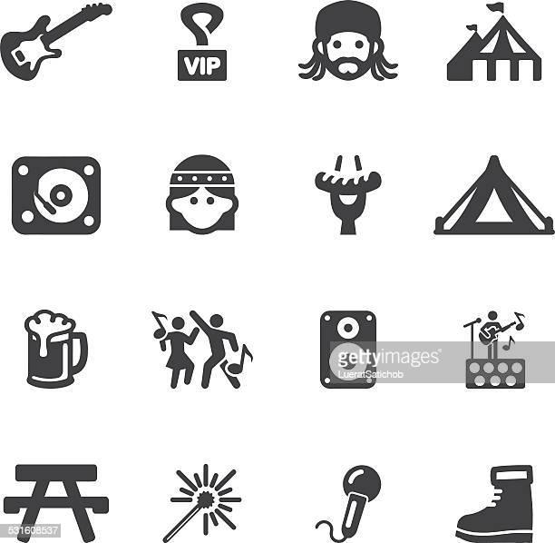 illustrations, cliparts, dessins animés et icônes de festival/silhouette icônes eps10 - chapiteau de cirque