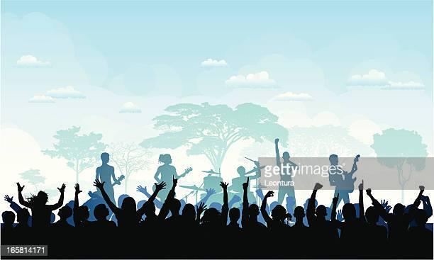 festival - music festival stock illustrations