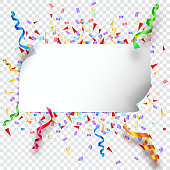Festive background on transparent