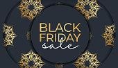 festive banner black friday dark blue