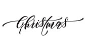 Festive calligraphy text greeting Merry Christmas