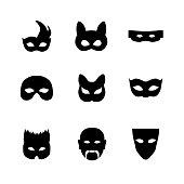 Festive carnival icons
