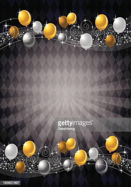 Festive Gold Balloon