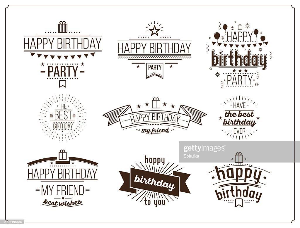 Festive Happy Birthday set