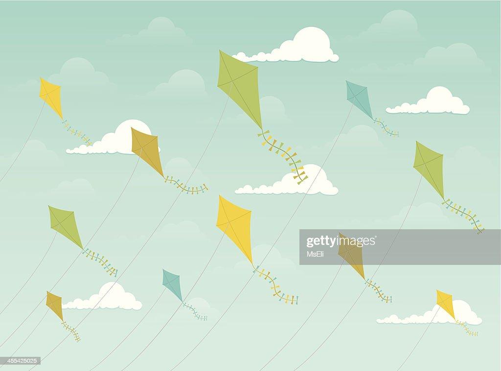 Festive kites flying