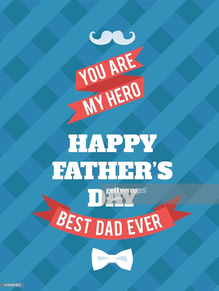 Festive typographical  retro style greeting card for father's da