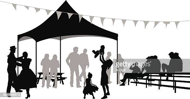 festivedance - tent stock illustrations, clip art, cartoons, & icons