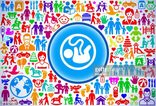 fetus family and parenthood vector icon pattern - animal fetus stock illustrations, clip art, cartoons, & icons