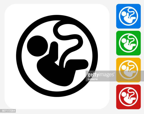 Fetus Icon Flat Graphic Design