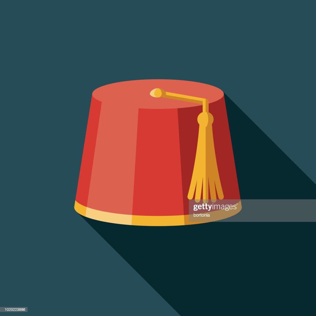 Fez Flat Design Turkey Icon stock illustration - Getty Images