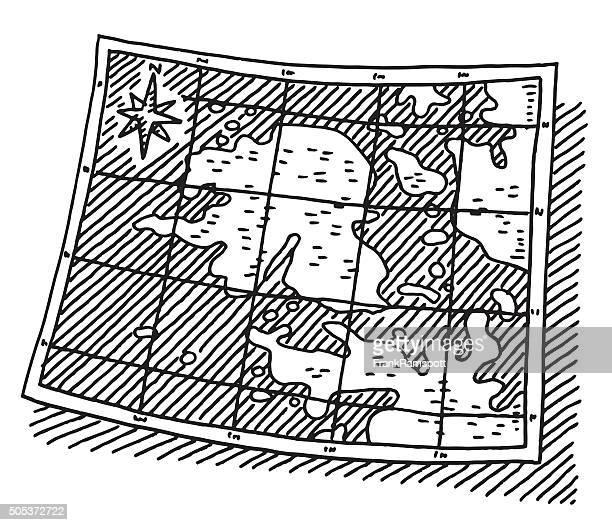 fictional islands map drawing - generic description stock illustrations, clip art, cartoons, & icons