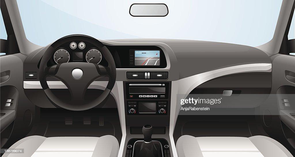 Fictional Vector Car Cockpit : stock illustration