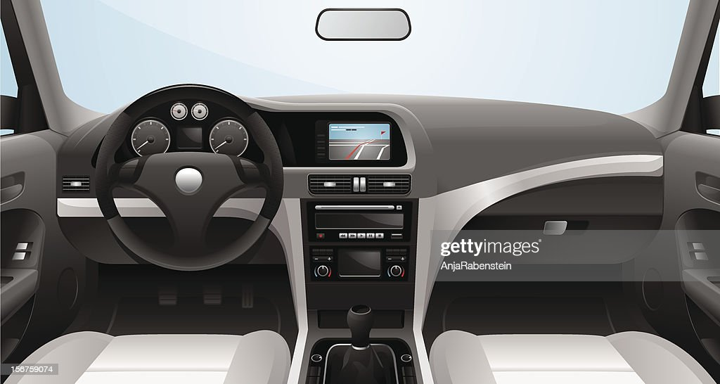 Fictional Vector Car Cockpit