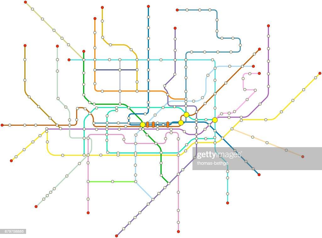 Fictional vector subway map