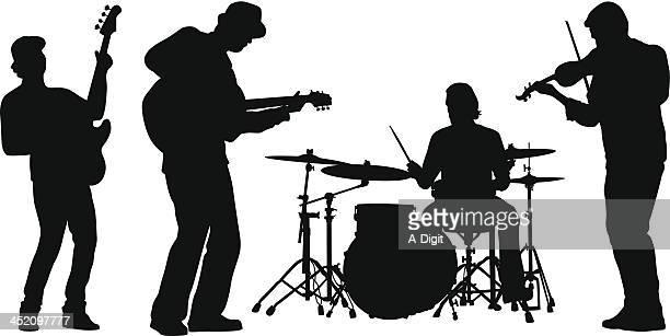 fiddler - performance group stock illustrations
