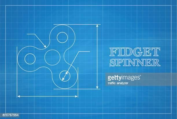 Fidget spinner blueprint