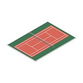 Field for the game of tennis, vector illustration.