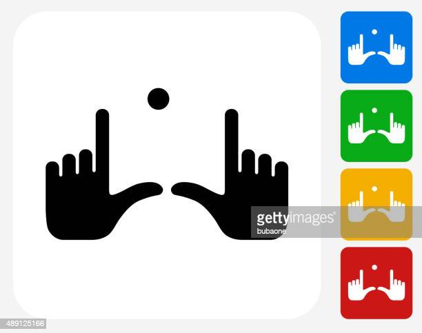 Field Goal Hands Icon Flat Graphic Design