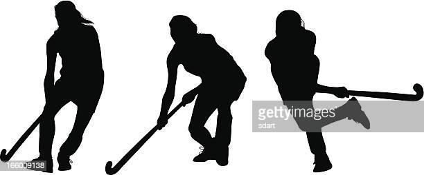 ilustraciones, imágenes clip art, dibujos animados e iconos de stock de secuencia de hockey sobre hierba - hockey sobre hierba